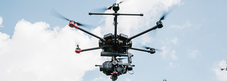 Drone looking for oil and gas leak emissions